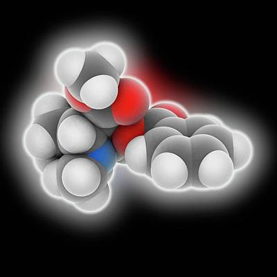 Cocaine Drug Molecule Poster by Laguna Design