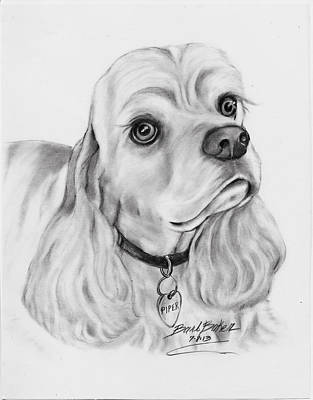 'cocker Spaniel' Poster by Barb Baker