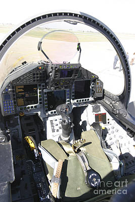 Cockpit View Of A Eurofighter Typhoon Poster by Timm Ziegenthaler