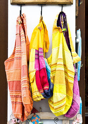 Colorful Cotton Bags Poster