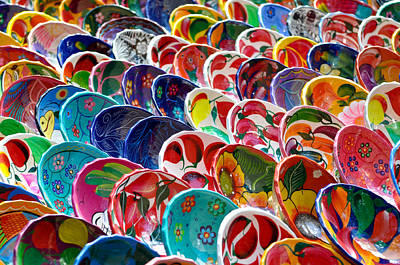 Colorful Mayan Bowls For Sale Poster