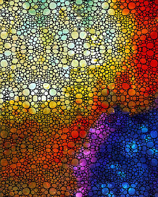 Colorful Stone Rock'd Abstract Art By Sharon Cummings Poster