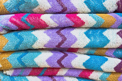 Colorful Towels Poster by Tom Gowanlock