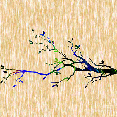 Colorful Tree Branch Poster