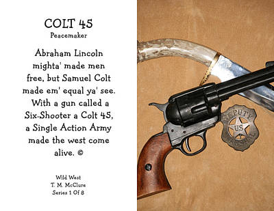 Colt 45 Peacemaker 1 Of 8 Poster by Thomas McClure