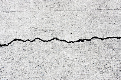 Concrete Cracks Poster by Jorgo Photography - Wall Art Gallery