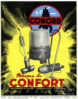 Conord Domestic Appliances Advert, 1949 Poster by CCI Archives
