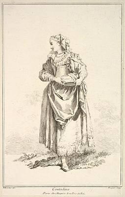Contadina, From Recueil De Diverses Poster by Gabriel Huquier