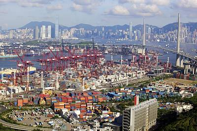 Container Port, Hong Kong Poster