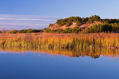 Copper Breaks State Park In Autumn Poster