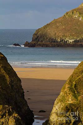 Cornish Seascape Holywell Bay Poster by Brian Roscorla