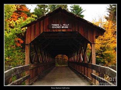 Covered Bridge At Allegany State Park Poster