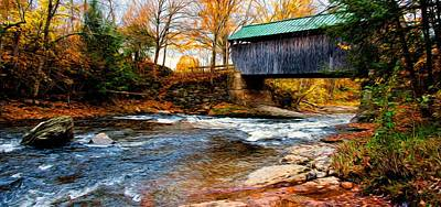 Poster featuring the photograph Covered Bridge by Bill Howard