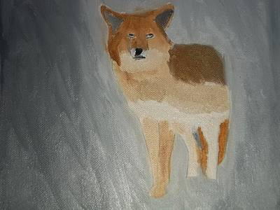 Coyote Oil Painting Poster