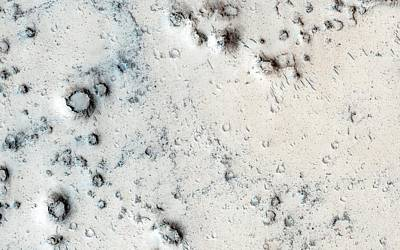 Craters On Mars Poster