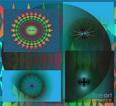 Poster featuring the digital art Crazy by Iris Gelbart