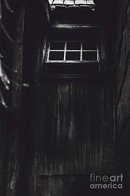 Creepy Open Horror Window In The Dark Shadows Poster by Jorgo Photography - Wall Art Gallery