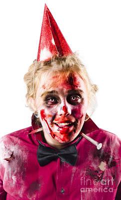 Creepy Woman In Halloween Costume Poster