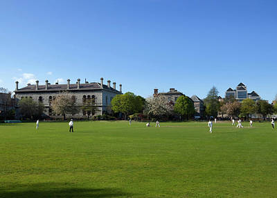 Cricket Match On College Park,with Poster by Panoramic Images
