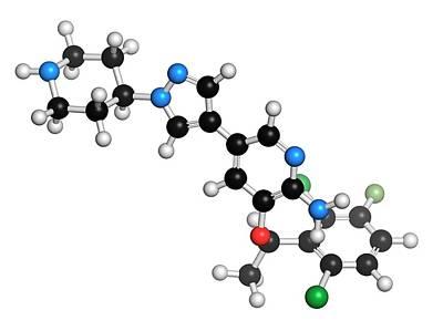 Crizotinib Anti-cancer Drug Molecule Poster