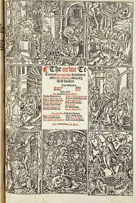 Cromwell's Bible Poster by British Library