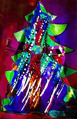 Cross Christmas Tree Poster
