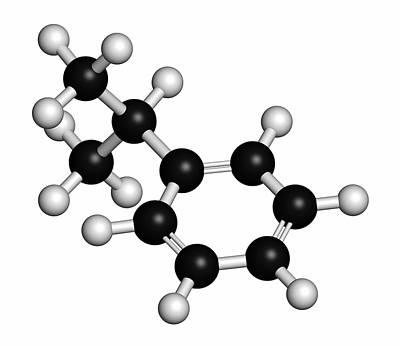 Cumene Aromatic Hydrocarbon Molecule Poster