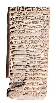 Cuneiform Clay Tablet Poster by Photostock-israel