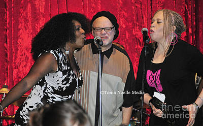 Poster featuring the photograph Curtis Salgado With Ladya White And Larhonda Steele by Tonia Noelle