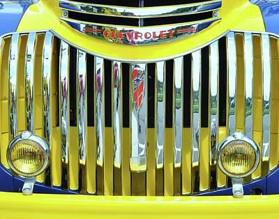 Custom Chevy Truck   Poster by Allen Beatty