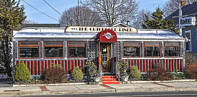 Cutchogue Diner Poster by Cathy Kovarik
