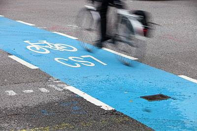 Cycle Superhighway Poster by Ashley Cooper