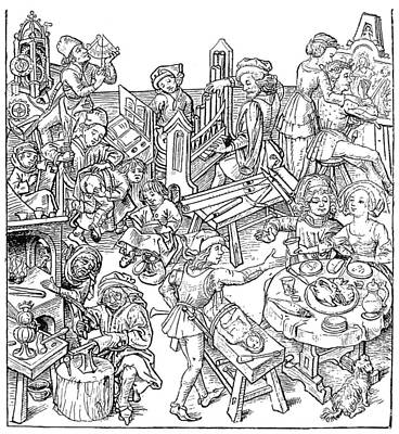 Daily Life, 16th Century Poster by Granger