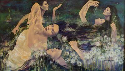 Dandelions Poster by Dorina  Costras