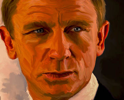 Daniel Craig 007 Poster by Brian Reaves