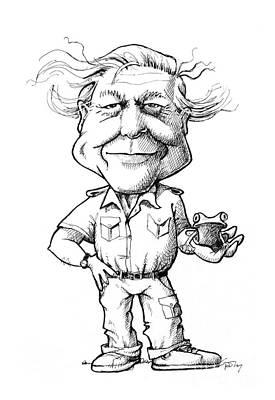 David Attenborough, British Naturalist Poster