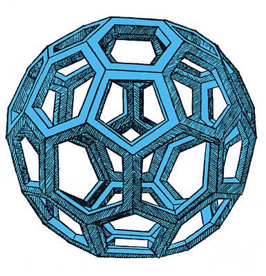 De Divina Proportione, Icosahedron Poster by Science Source
