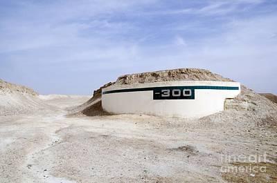 Dead Sea Altitude Marker Poster