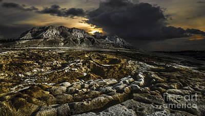 Dead Sea Sink Holes Poster by Dan Yeger