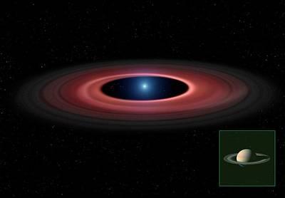 Debris Ring Around A White Dwarf Star Poster by Mark Garlick