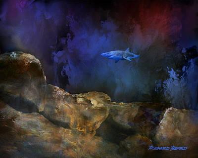 Deep Water Shark Poster