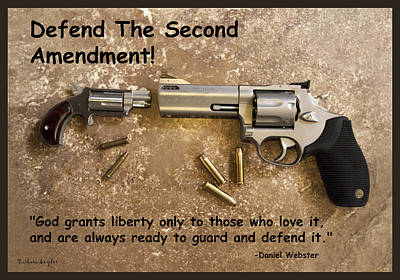 Defend The Second Amendment Poster by Barbara Snyder