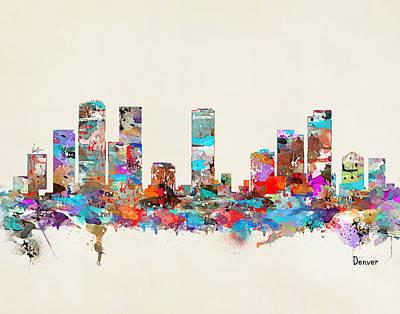 Denver Colorado Skyline Poster by Bri B