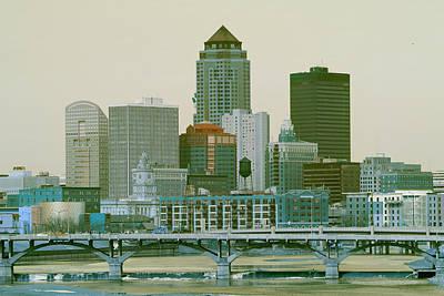 Des Moines Cityscape  Poster