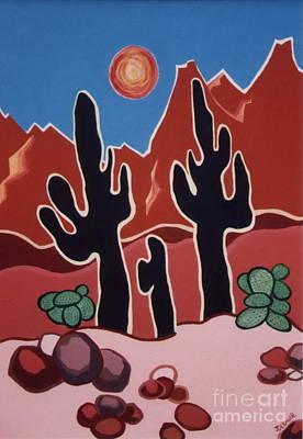 Desert Heat Poster by Joyce Gebauer