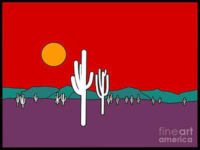 Desert Sunset Poster by Methune Hively