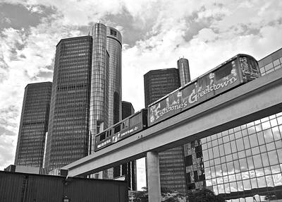 Detroit From Below Poster by Frozen in Time Fine Art Photography