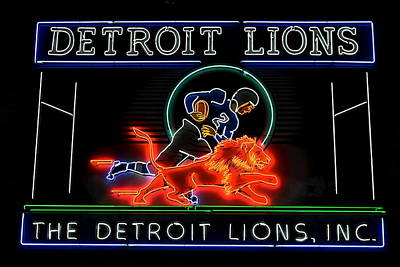 Detroit Lions Football Poster by Frozen in Time Fine Art Photography