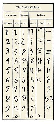 Development Of Arabic Numerals Poster by Sheila Terry