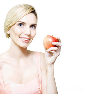 Dietician Or Nutritionist Holding Fruit Poster by Jorgo Photography - Wall Art Gallery